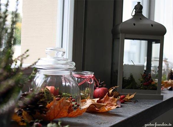 Herbst auf der fensterbank garten fr ulein der garten blog - Fensterbanke dekorieren ...