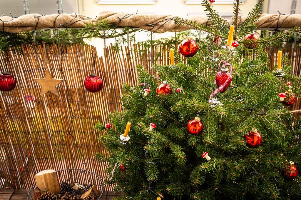 Gebastelte Weihnachtsdeko.Natürliche Weihnachtsdeko Für Den Balkon Garten Fräulein Der