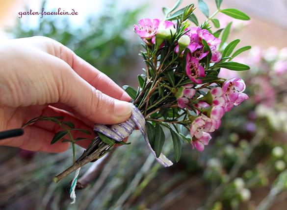 Wachsblumen-Strauß