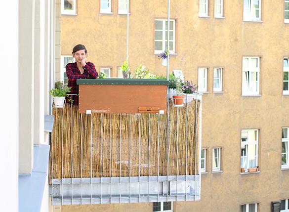 Bienenbox-Balkon