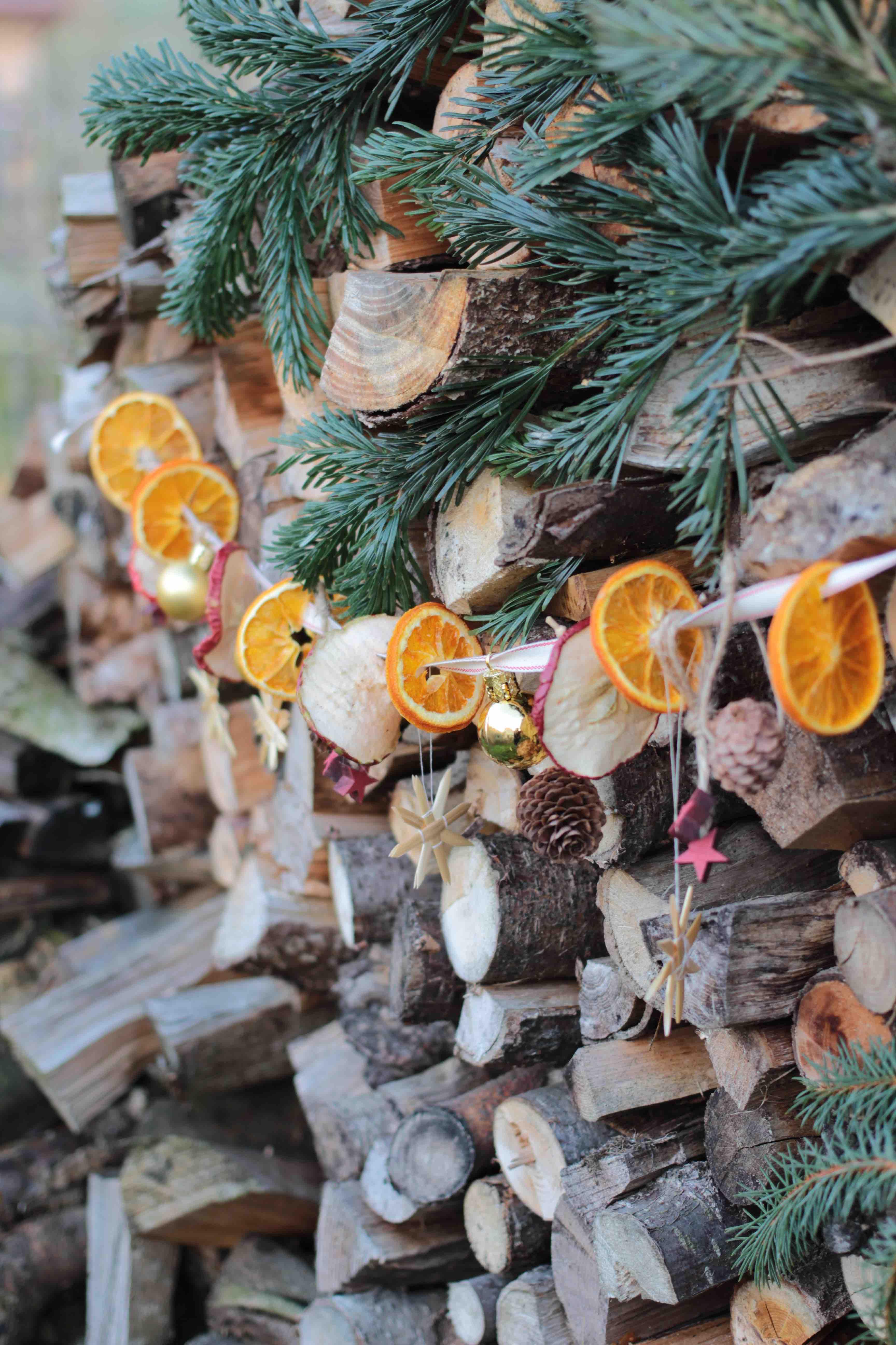 Weihnachtsgirlande Basteln Garten Fraulein Der Garten Blog