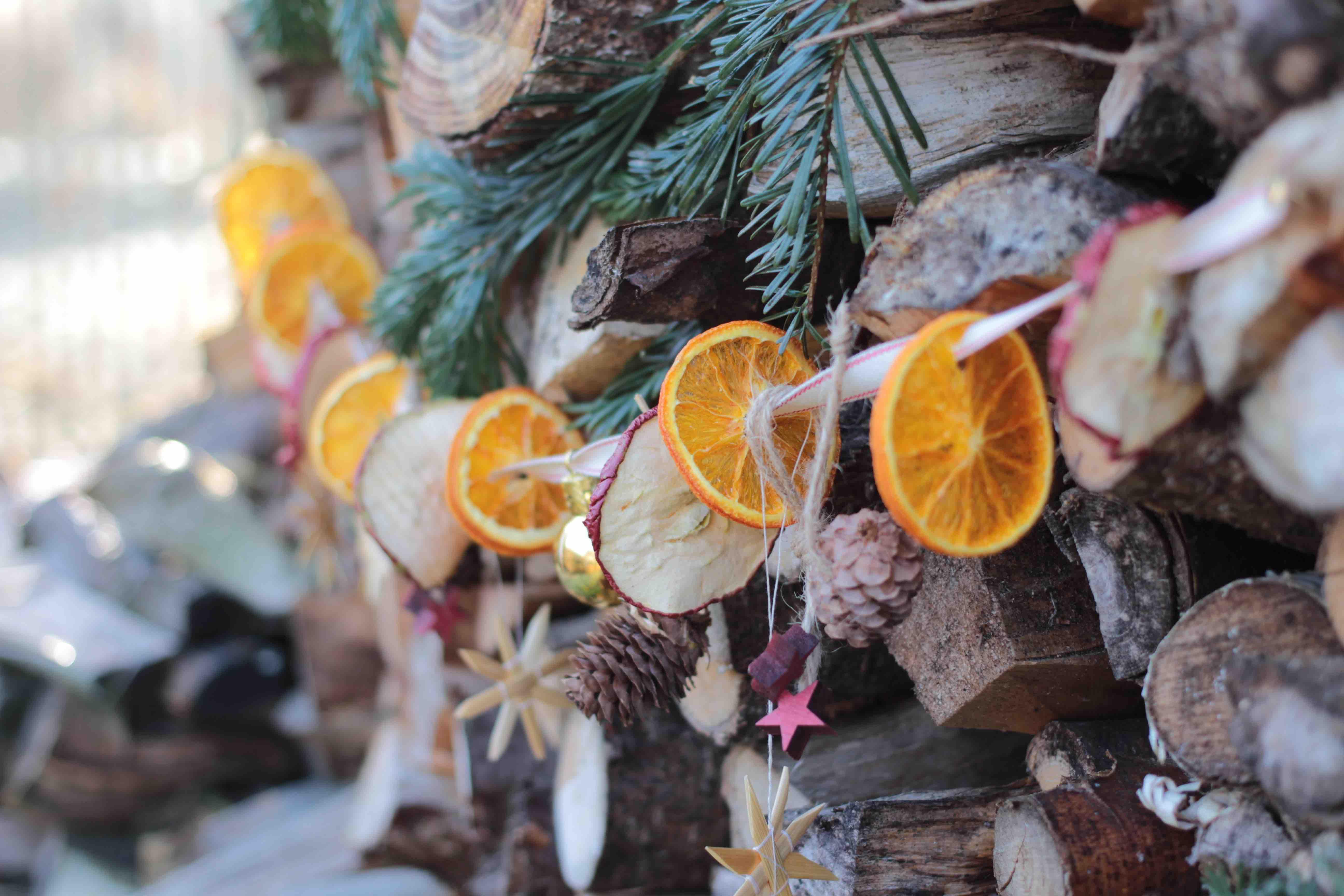 weihnachtsgirlande basteln
